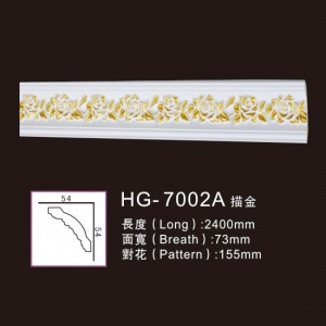 Effect Of Line Plate-HG-7002A outline in gold