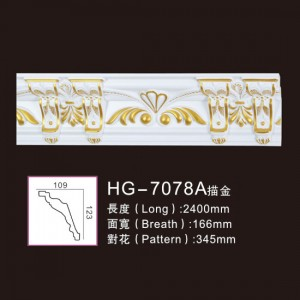 Effect Of Line Plate-HG-7078A outline in gold