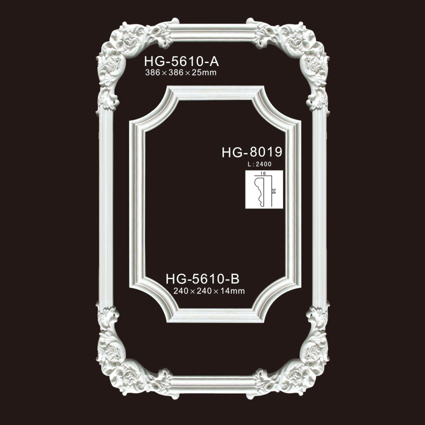 2019 Latest Design Zinc Alloy Medallion - Elegant Corner & Frames-HG-5610 – HUAGE DECORATIVE