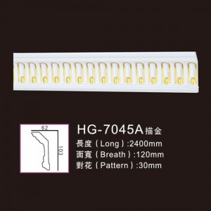 Effect Of Line Plate-HG-7045A outline in gold