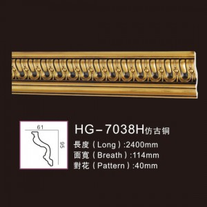 Effect Of Line Plate1-HG-7038H Antique Copper