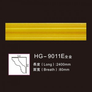 OEM/ODM Supplier Cheap Memory Engraved Medallion - Effect Of Line Plate-HG-9011E full gold – HUAGE DECORATIVE