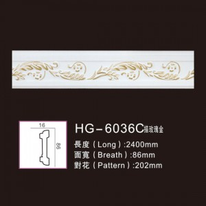 Factory wholesale Medal Medallions - Effect Of Line Plate-HG-6036C outline in rose gold – HUAGE DECORATIVE