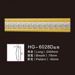 Manufacturer for Outdoor Heating Fireplace - Effect Of Line Plate-HG-6028D gold silver – HUAGE DECORATIVE