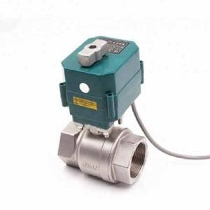 Factory supplied Electric Ball Actuator Valve -