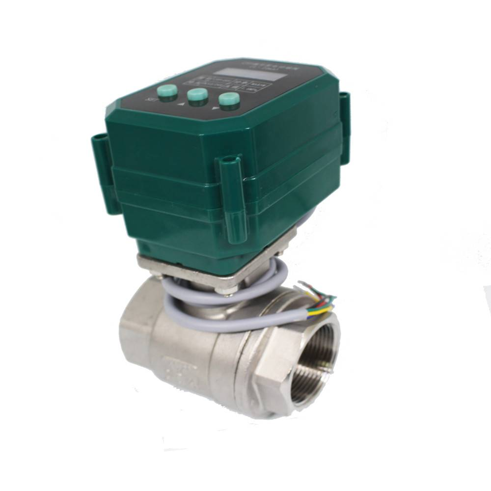 CTF001 4-20mA modulating electric valve BSP thread ss304/316 Flow Control Ball Valve