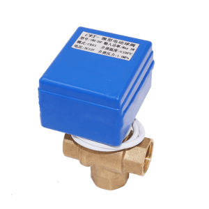 CWX-20P T-type L-type vertical type dn15 dn20 brass three-way 3 way motorized automatic valve