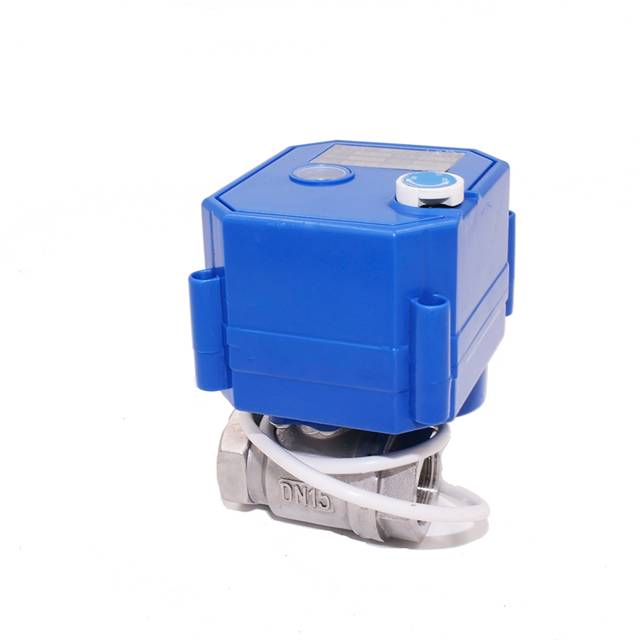 3/4″ FULL PORT NPT SS304  Mini Motor 9- 24VAC DC 2-Wire  Electric Ball Valve with signal feedback
