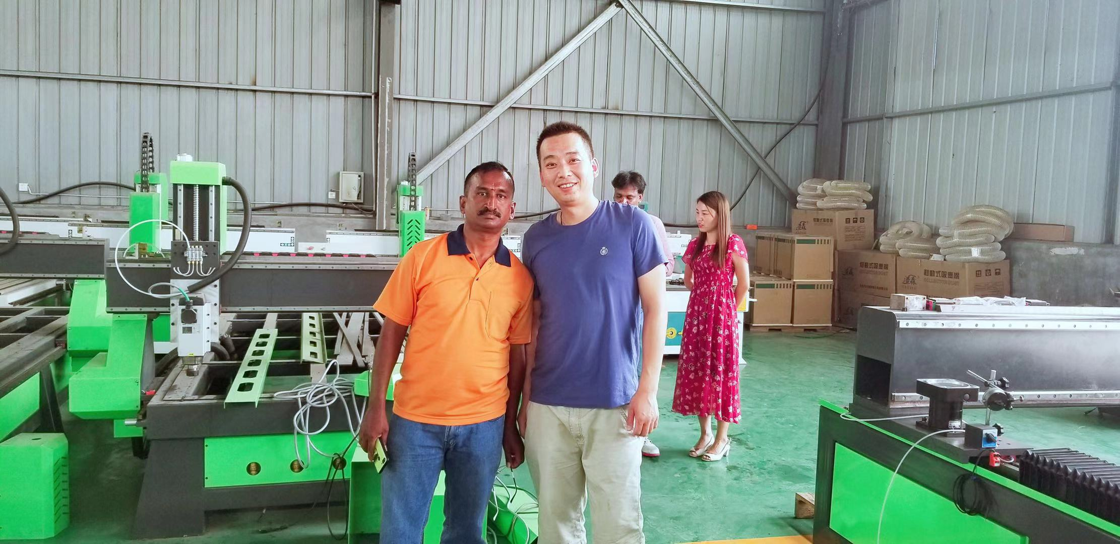27,July,2019,Indian customers come to our factory