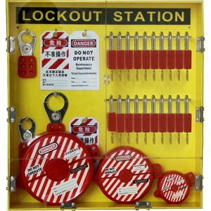 Best quality Electrical Large Wall Mounted Combination Metal Lockout Tagout Station
