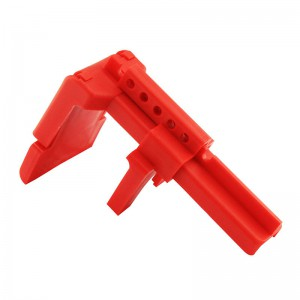 Red Resin Plastik Ball Valve Lockout BD-8211