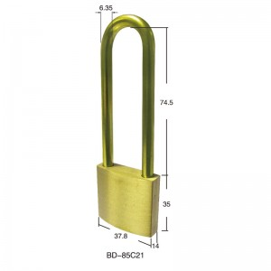 Full Brass Safety Padlock BD-85C11~85C21