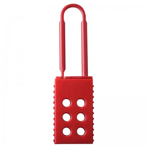 Factory Cheap Hot Hasp Lockout,Insulation Hasp Lock,Six Holes Padlock,Red