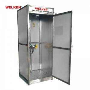 Stainless Steel Enclosed Safety Shower BD-602