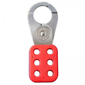 OEM Factory for Vinyl Coated Steel 6 Padlock Holes Clamp On Safety Hasp Lockout With Handle