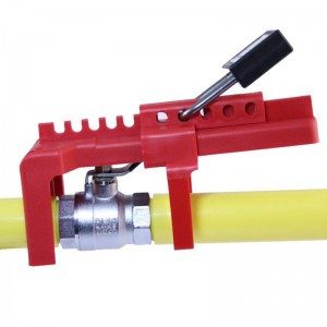 Red Resin Plastic Ball Valve Lockout BD-8211