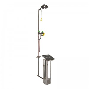 Stainless Steel Buried Combination Eye Wash & Shower BD-560W