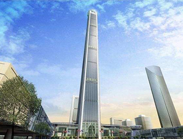 Welded Steel Tubo nga gigamit sa Tianjin 117 Building