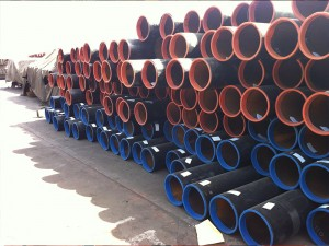 ASTM A53 A36 Large Diameter Black Painted Welded Steel Pipe with Beveled Ends