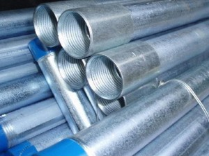 BS1387 BSP Threaded galvanizado ŝtalo Pipe