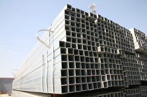 Galvanizado en quente Square e rectangular Steel Pipe