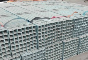 Galvanized Square and Rectangular Steel Pipe with Holes