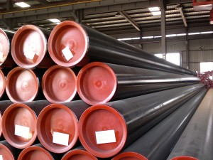 SCH40 Painted Welded Steel Pipe Beveled Ends