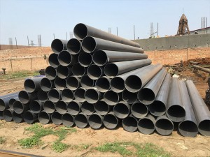 Large Diameter API 5L ASTM A53 Welded Steel Pipe Beveled Ends