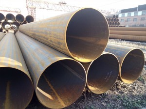 LSAW Welded Steel Pipe Natural Black
