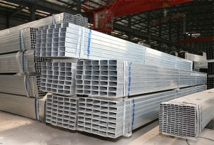 Pre Galvanized Rectangular Steel Tube Zinc Coating 40g/m2