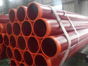 Ral3000 ASTM A795 rañuras Final Fire Protection Steel Pipe