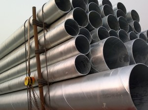 Carbon Steel Material Grade B Galvanized SAW Welded Steel Pipe