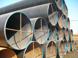 Big Size 12m Sawl Spiral Welded Steel Pipe Beveled ends with Protection