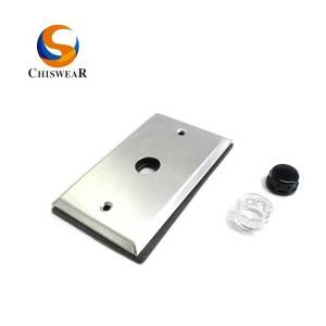 Button Photocell Sensor Accessories Wall Mount Aluminum Plate
