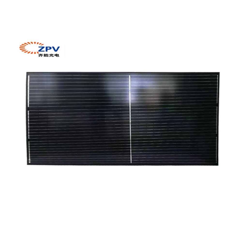 Transparent 400 watt half cell solar panel high efficiency