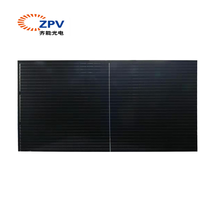 Half cell solar pane manufacturer 380W transparent solar panel system