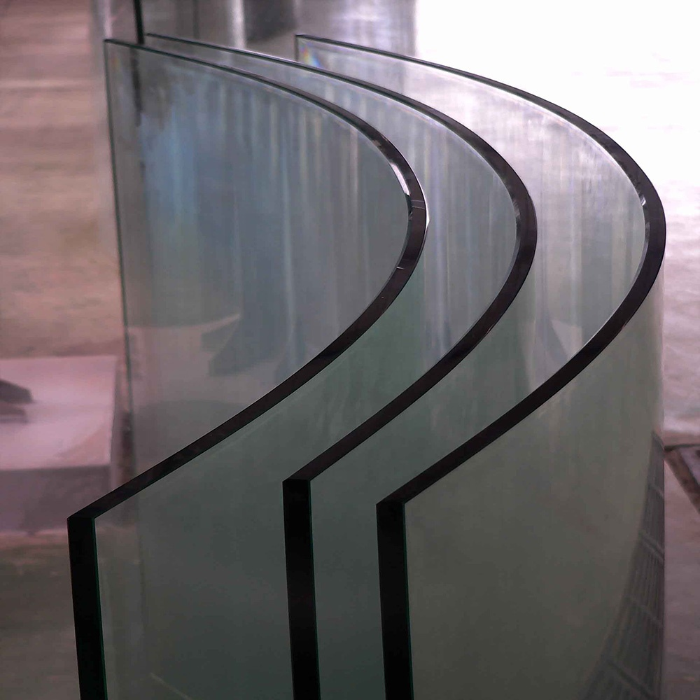 10mm thick tempered glass for-curved furniture