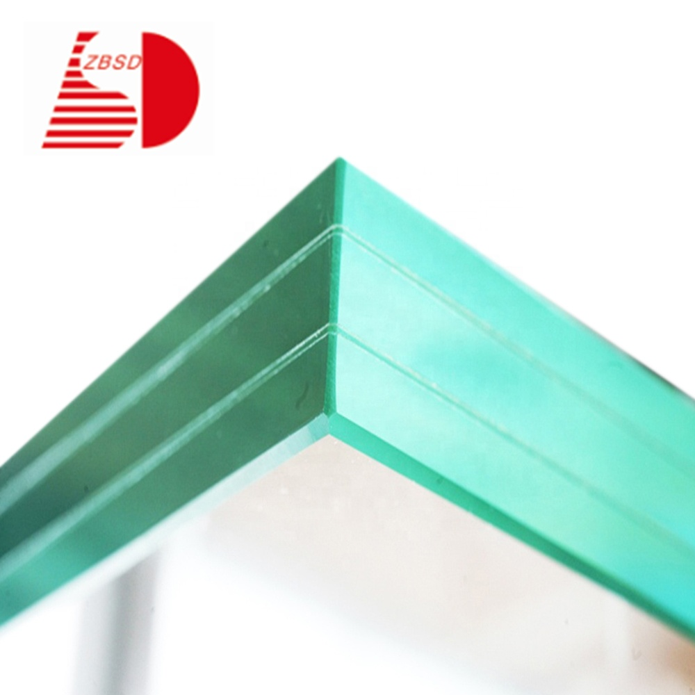 5mm 0.38pvb 5mm clear tempered laminated glass