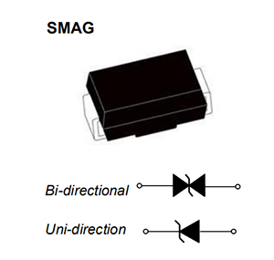 diode,SMAJ 9.0A,SMA packaging TVS diode