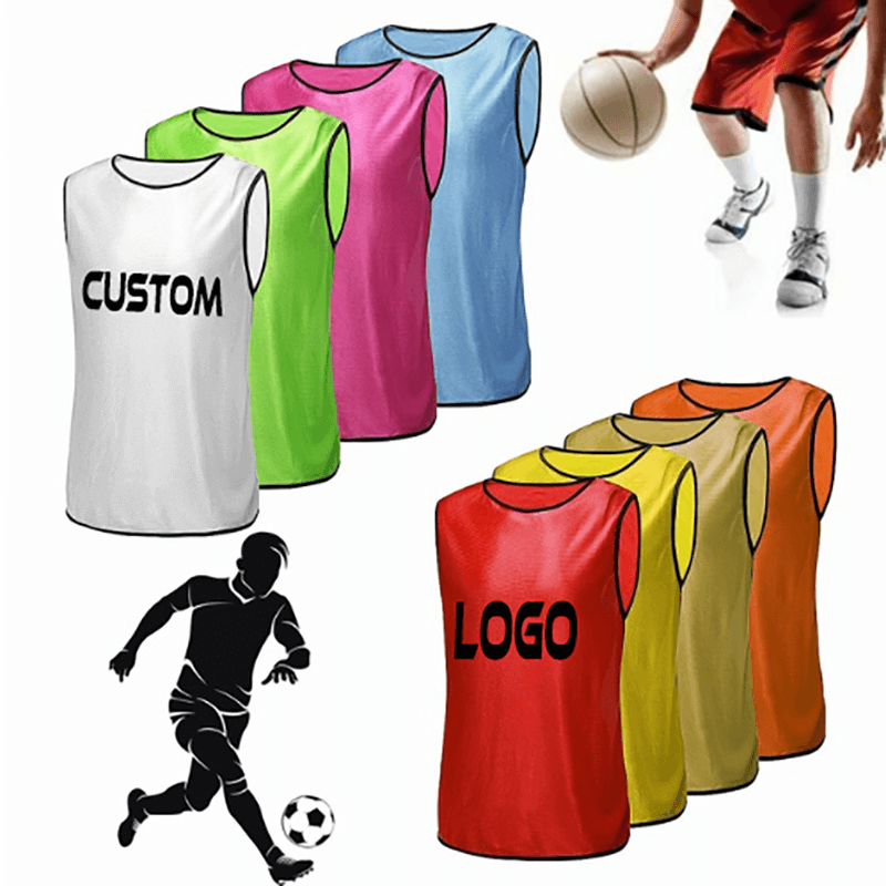 Adult – Teens Scrimmage Practise Jerseys Team Pinnies Sports Vest Soccer, Football, Basketball bibs