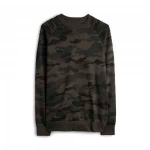 camouflage colour custom crewneck for men