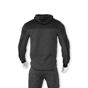 Men's zipper hoodie track jacket