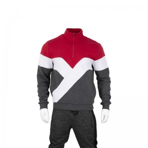 Colorful puzzle track jacket for men