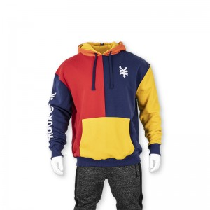 Men's colorful hoodie pullover with print and embroidery
