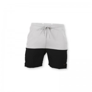 Custom grey hit black design board men swimming trunks breathable beach shorts