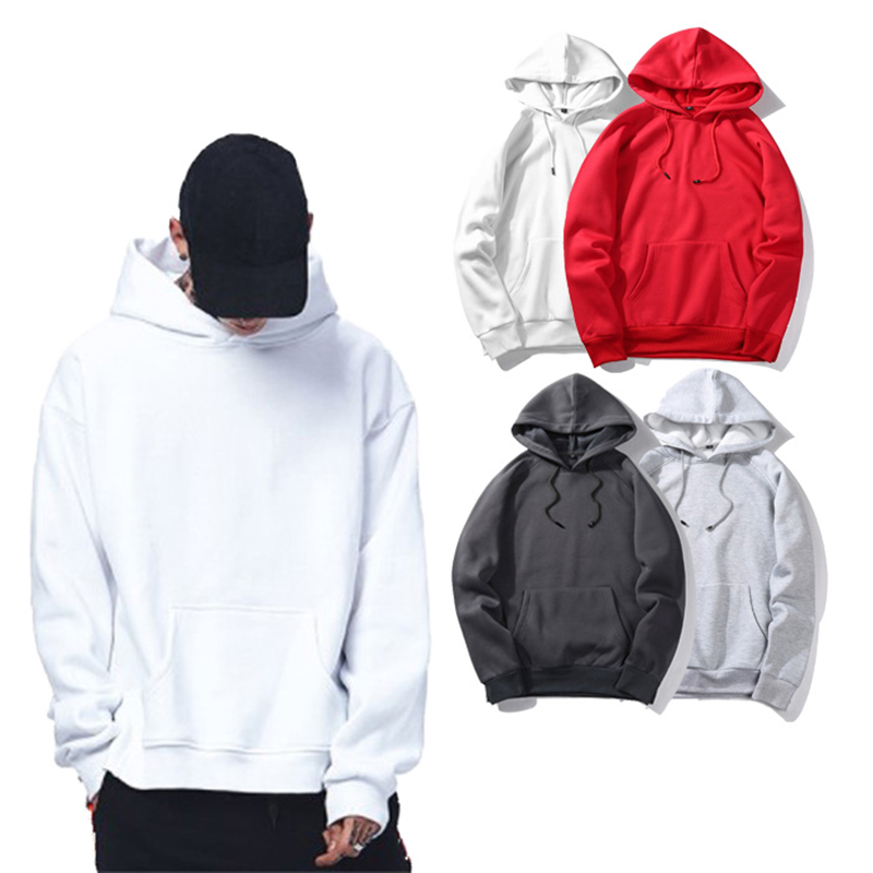 Wholesale Unisex Blank High Quality Hoodies Pullover Sweatshirts With Custom Logo Printing