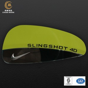 Custom metal logo plates,Nameplate for tennis | CHINA MARK