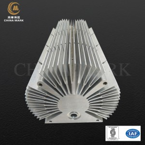 Aluminium heatsink extrusie, BYD automoblie auto heatsink |  CHINA MARK