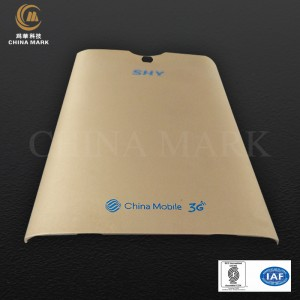 Golden aluminum extrusion,SHY phone back cover | CHINA MARK