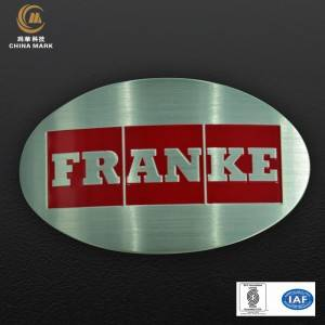 Photosensitive, etched stainless steel nameplate | WEIHUA